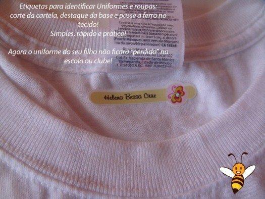Etiquetas personalizadas para roupas e outros produtos