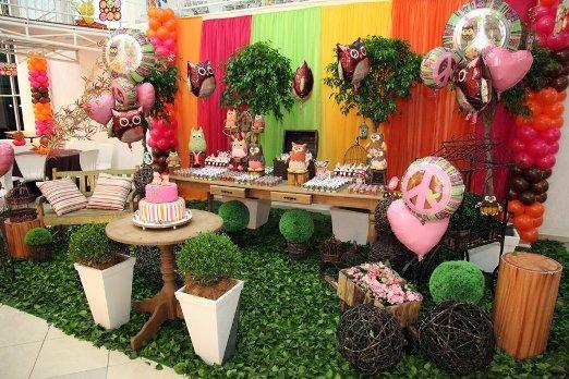 Decoração de aniversário infantil - Festa corujinha