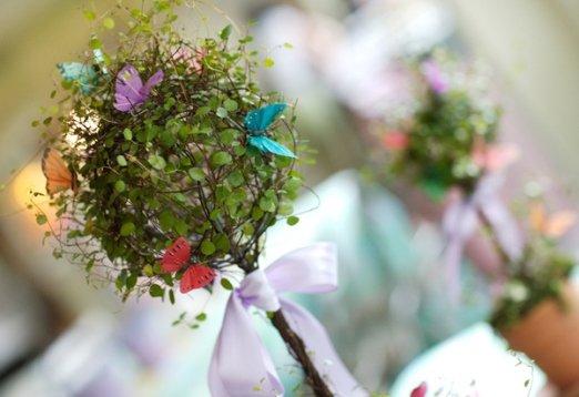 Decoração de 15 anos: jardim de borboletas