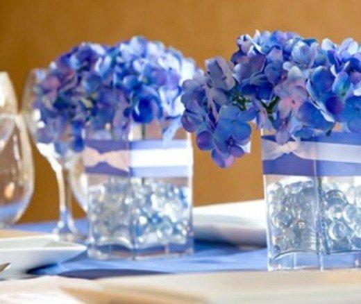 decoração para boda de platina ou safira