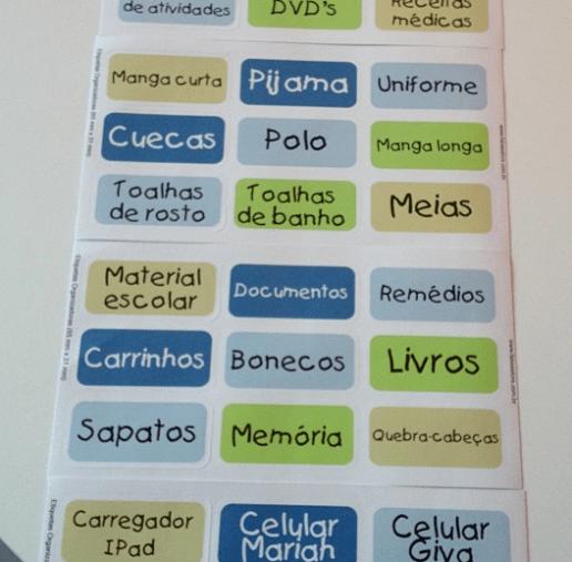 Etiquetas organizadoras