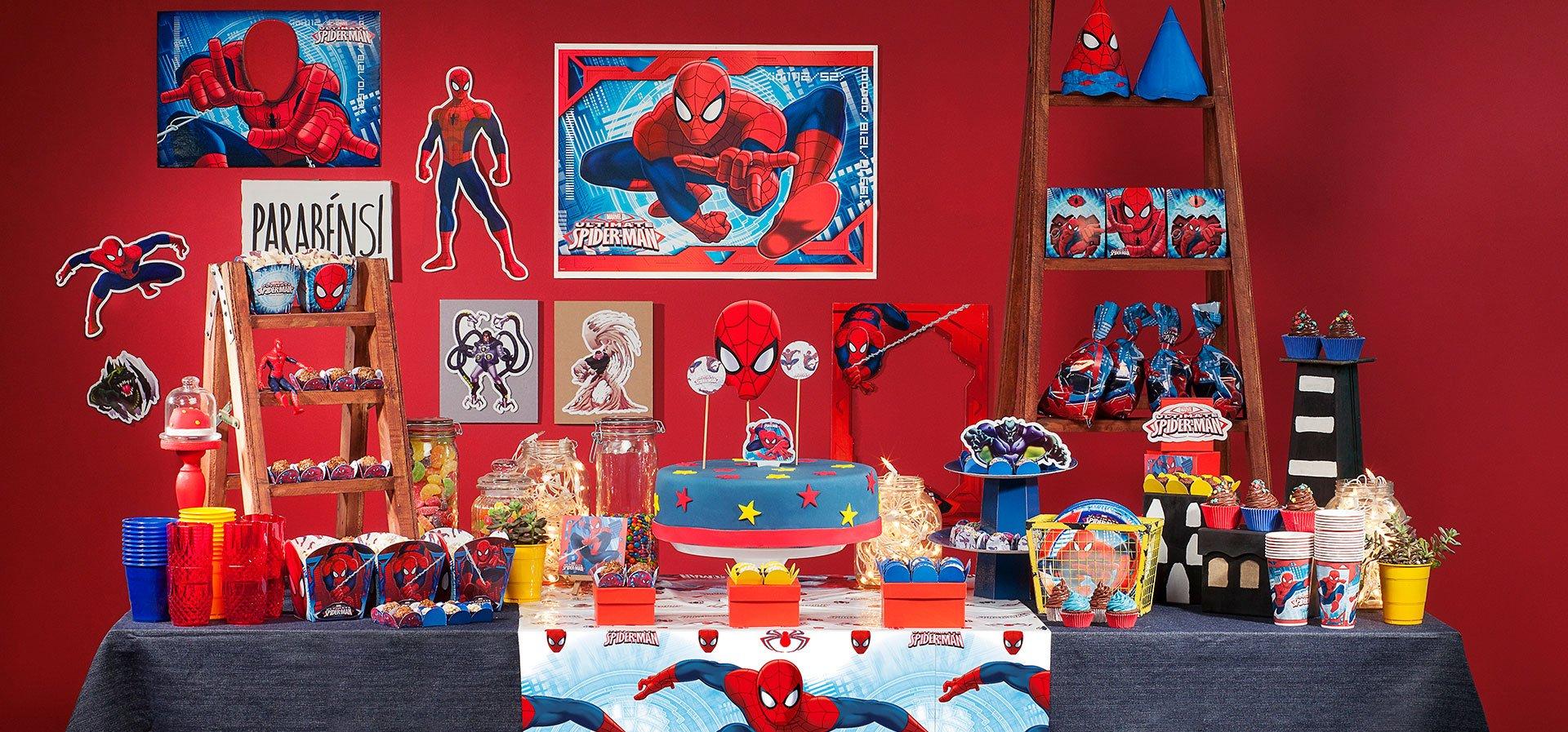 decoracao festa homem aranha:homem aranha
