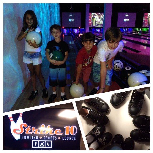 Boliche no Strike 10 é um dos melhores programas para fazer em família em Miami