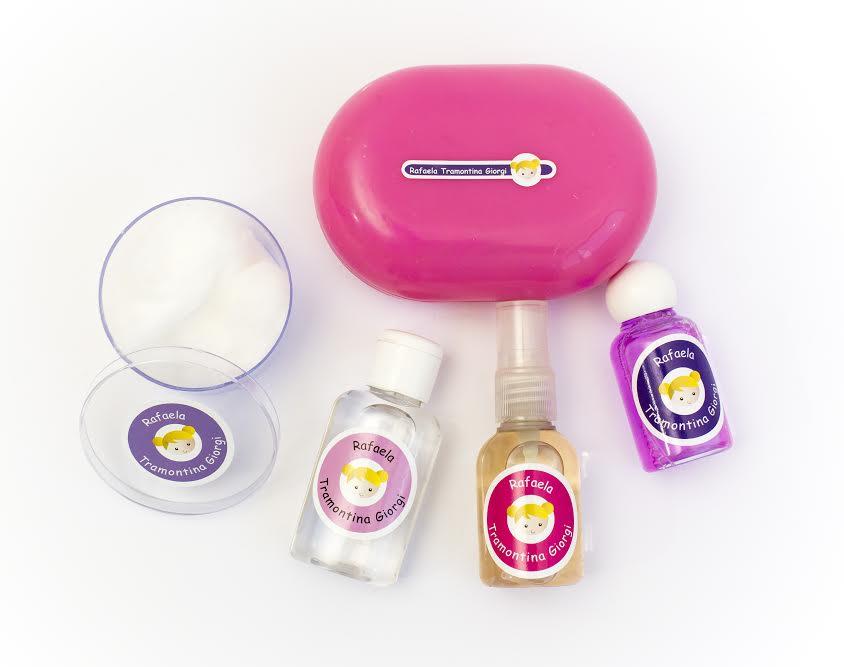 Etiqueta identificação de produtos de higiene