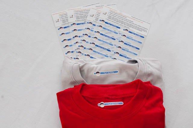 Camisetas e etiquetas termocolantes