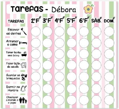 Organizador semana para seu filho Etiquetas Personalizadas Fabee Store